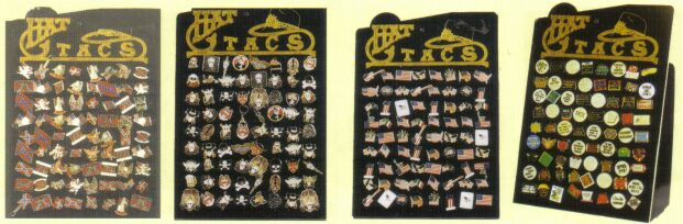 72 Lapel Pins With Display Board